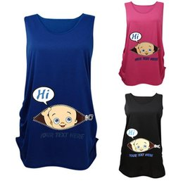 Wholesale New Arrivals Women s Pregnant Tops Shirts Maternity Supplies T Shirt Tees Sleeveless Baby Avatar Soft Cotton Fashion KD5