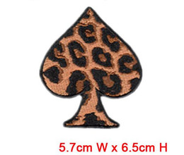 heart logo wholesales computer embroidery patches & badge hot cut Iron on customized manuctory in China free shipping patch