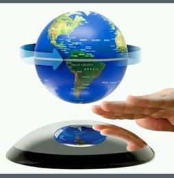 Acheter en ligne Flotteurs électroniques-5 pcs DHL libre Globe flottant magnétique électronique 4 pouces tourner, l'anti-gravité Lévitation Floatiing globe stands d'affichage