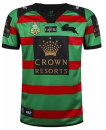 Wholesale NRL National Rugby League South Sydney Rabbitoh new jersey High temperature heat transfer printing jersey Rugby Shirts stitch