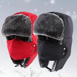 Descuento sombreros trampero Los adultos y los niños calientan el sombrero del invierno Las máscaras a prueba de viento capsulan los sombreros del trampero
