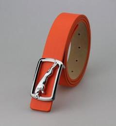 HOT SELL 10COLOR casual smooth buckle belt Men Women belt buckle leather belt letter S