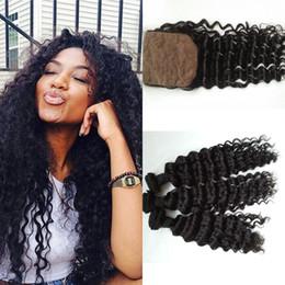 Mongolian Virgin Hair With Closure,Mongolian Virgin Deep Wave 3pcs bundles G-EASY Hair Products With Closure cheap human hair weave