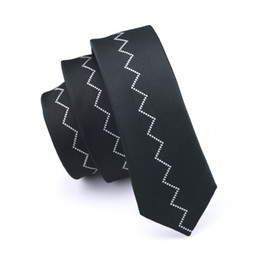 Fashion Slim Tie Black Floral Skinny Narrow Silk Jacquard Woven Neckties For Men Wedding Party Groom Suit Tie E-257