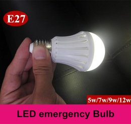 Wholesale E27 LED bulbs emergency lamp W W W W Manual Automatic control degree light Street vendors use working hours