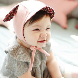 Wholesale Cute Boys Photos New - New Cute Rabbit Long Ear Baby Hat cotton Bonnet Kids Girls Boys Baby Hat cap Photo Props Yellow Pink for 0-2 Years