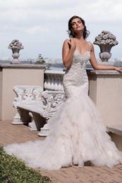 Beach Wedding Dresses 2016 Sexy Spaghetti Lace Appliques Tulle Backless Mermaid Long Brides Bridal Dress Plus Size Hot Sale Wedding Dress