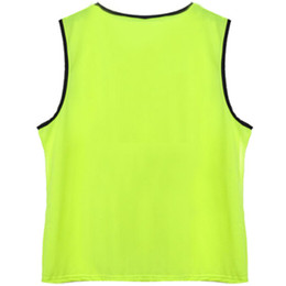Freeshipping Wholesale Man Athletic Sports Vest Mesh Football Match Soccer Rugby Training Bibs Top