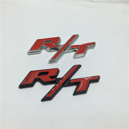 10PCS 3D Metal High Quality RT R T Car Emblem Chrome Badge Side Logo Car Body Stickers Decal
