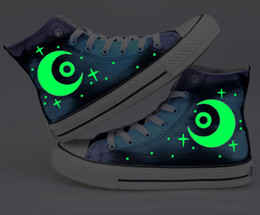 New Arrival Game Hero Alliance Guild Logo Hand-painted Graffiti Luminous Canvas Fashion Unisex Leisure Shoes,Lovers Shoes Hot Items