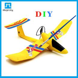 Planeadores de bricolaje en Línea-aeroplano DIY juguetes RC Avión Planeador Bluetooth Wireless Drone Quadcopter Uplane Romote controlada avión Desde Majestad
