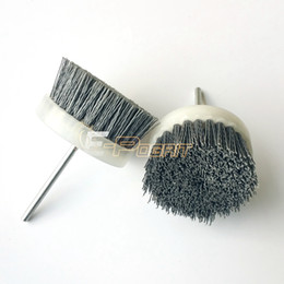 Wholesale 80 mm Mounted Nylon Wire Brush Wheel P120 P240 P600 Wood Furniture Grinding Flower Head Air Grinder Drill Rotary Tool