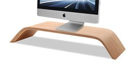 DHL Free Ship New Real Bamboo Stand Dock Holder Bracket for iMac Original SAMDI Holder for Apple Desktop PC Monitor