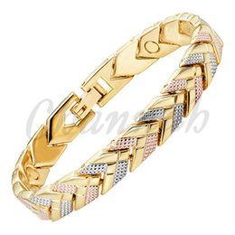 Wholesale 2016 Women Tone Silver Rose Gold K Gold Bracelet Magnetic Arrow Bangle Ladies Jewelry Gift via Hong Kong Post
