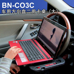 Wholesale-Car computer desk car steering wheel card table vehicular dining table car laptop desk Free shipping