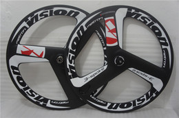Wholesale 700c carbon spoke wheel fixed gear bicycle wheel quick delivery track and road carbon tri spoke wheel