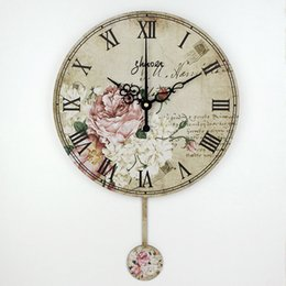Wholesale inch vintage decorative wall clock absolutely silent quartz clock on the wall decoration living room wall watches duvar saati