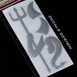 Wholesale Car Emblem Logo Devil - 1 PC Cute 3D Devil Style Demon Car Stickers Auto Emblem Logo Car Styling Paper Decoration, Car LOGO Sticker