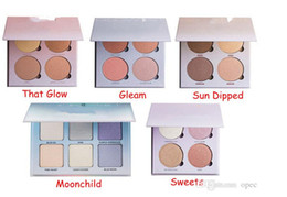 Wholesale Metallic Powder Bronzers Highlighters Glow Face Makeup Bronzers Highlighter Glow kit Powder Palette That Glow Gleam Sun Dipped Sweets