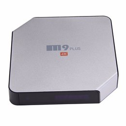 Wholesale New Original Android5 TV Box With LCD Quad Core Amlogic S905 G G ROM KODI Box Best TV Streaming Device M9 plus