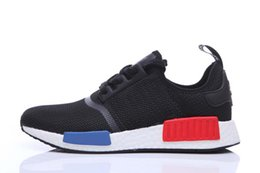 Wholesale Mens Running Shoes NMD Second Generation Pharrell Williams X NMD HUMAN RACE Black Fashion Breathable women for men shoes sneakers Size