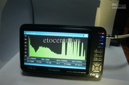 Comercio al por mayor 10 Sathero SH-600HD DVB-S2 Buscador de satélite digital HD Medidor con analizador de espectro LCD de 7 pulgadas desde buscador hd sathero proveedores