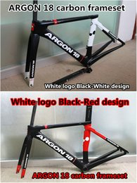 Wholesale Two models White logo design of ARGON carbon bike frameset Made in China road bicycle carbon bike frames BB30 BB68