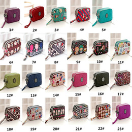 Wholesale New Thick Layer Credit Cards Keys Zipper Coin Purses Women Wallets Wrists Mobile Phone Bags Lovely Canvas Bags