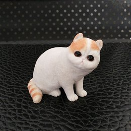 Wholesale Cute Cat Simulation toy doll Artificial Model Of Garfield Decorative Resin art Crafts Childrens Birthday Present