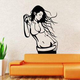 Wholesale The new figure beautiful girl sitting room bedroom decorates wall stickers
