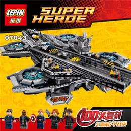 Wholesale Hot new Superheroe the Shield Helicarrier Aircraft Carrier Building Block Kits Minifigure Compatible Lepin