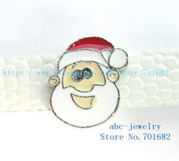 Wholesale Santa Bead Cap - 5pcs 8mm Christmas Santa Claus wholesales price Internal Dia.8mm fit 8mm wristband belt keychain dog collar bracelet SL427