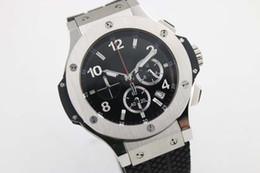 Wholesale the best supplier store styles Luxury Brand watches men big bang sillver case watch quartz sports chronograph Watch Mens dress Watches