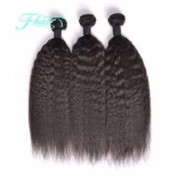 Promotion 22 pouces extensions de cheveux longueur 8A Yaki indien cheveux droits 3 paquets tissent l'armure droite 10-30