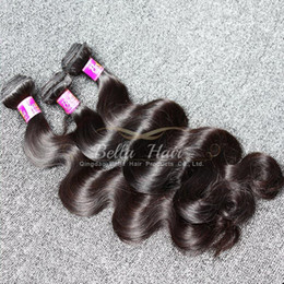 22 pouces extensions de cheveux longueur en Ligne-Double Trame Mix Longueur 10-24 pouces malaisienne Hair Weave 4pcs / lot Head Full Color Natural 9A Body Wave Human Hair Extensions
