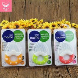Wholesale Hot sale pc Baby Toddler Teether Chew Toy Molar Rod Food Grade Silicone Fruit Design Factory Deal