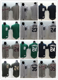 Wholesale 2016 Flexbase MLB Stitched Detroit Tigers Verlander Cabrera Gibson Blank White Blue Green Gray Baseball Jersey Mix Order