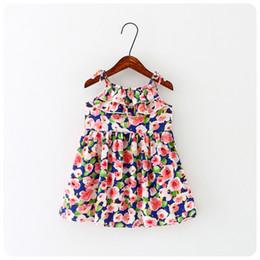 2016 summer baby girls kids Printing princess dress bourette dress floral dresses Baby Girls Condole belt skirt 27 style