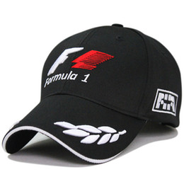 Wholesale 2015 New Black F1 Racing Team Hat Embroideried Letters Wheat F1 Formula One Team Golf Cap Baseball Cap