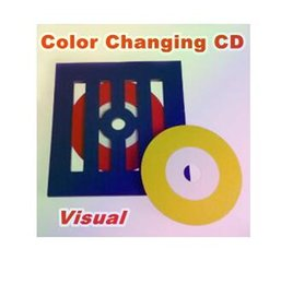 Visual Color Changing CD frame style - Trick, Metal stage magic magic props