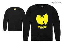 Men's T-shirts WU TANG long sleeve shirt Spring Autumn clothes casual sport Tops Tees wool o-neck t shirt