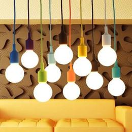 E27 chandeliers lighting (No Bulb) pendant lamps modern cord pendant light LED Chandelier vintage loft style for home indoor lighting