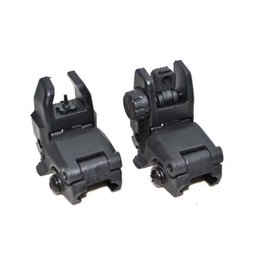 Wholesale Tactical Polymer Picatinny weaver Front And Rear Combo Set Flip Up Backup AR15 AR M16 M4 M Flattop A1 A2 Post Back Up