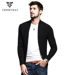 Wholesale Autumn cardigans knitted cotton sweater turn down collar open stitch sweater with Korean fashion style for men AZ
