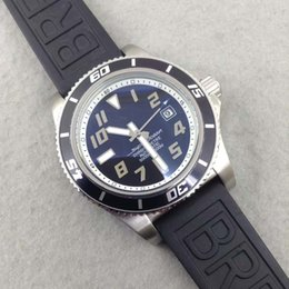Wholesale Luxury Aeromarine Mens Automatic wristwatch Blue dial black rubber strap Super Ocean New Wave Watch A17364 Men s Watches