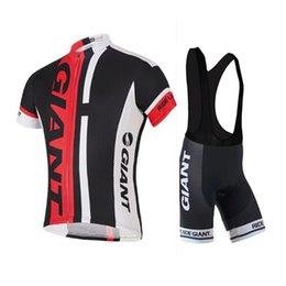 Wholesale 2016 Giant Summer Cycling Jerseys Roupa Ciclismo Quick Dry Lycra GEL Pad Race MTB Bike Bib Pants cycling clothing black and red