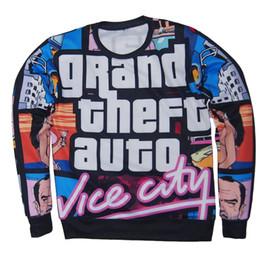 Wholesale new adolescent d Grand Theft Auto game gta print sweatshirt for men women long sleeve shirt
