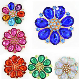 High Quality Acrylic Flower Brooch Blue Color Brooch Pin Brooch Red Brooch Hot Selling!Elegant Wedding Bridal Bouquet Jewelry Accessories