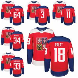 Wholesale 2016 WCH World Cup Czech Republic Jerseys Ice Hockey Gudas Michalek Hanzal Faksa Plekanec Palat Jaskin Pavelec Mrazek