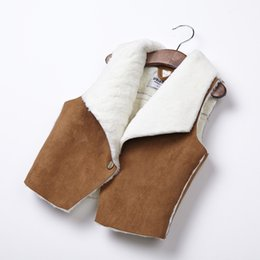 Wholesale-Free shipping Children's clothing lapel Boy and girl suede Children's vests & Waistcoats vests